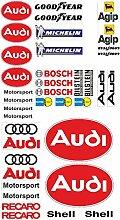 Audi Logo Autoaufkleber Sponsoren Marken Aufkleber