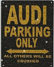 Audi Parking Rustikaler Stil den großen 30,5x 40,6cm 30x 40cm Auto Schuppen Dose Garage Werkstatt Art Wand Spiele Raum