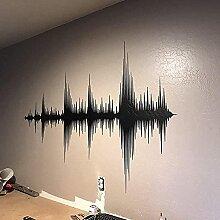 Audiowelle Wandtattoo Sonic Wave Vinyl Aufkleber