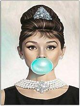 Audrey Hepburn Bild auf gerahmter Leinwand, Motiv