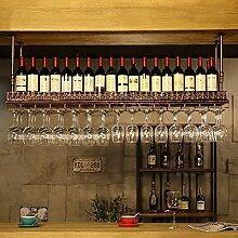 Auf dem Kopf stehendes europäisches Bar-Weinregal
