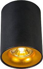 Aufbaustrahler Ronda schwarz mit gold