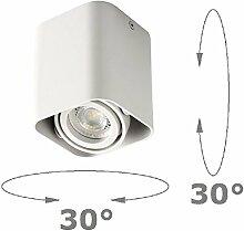 Aufbaustrahler Weiß Aufbauleuchte ARTE Aufputz Deckenlampe Deckenleuchte Strahler Downlight ohne Leuchtmittel (ECKIG)