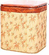 Aufbewahrung für Schuhe / Hocker / Hocker / Sofa mit Fußstütze / Holz Esszimmerstuhl / Handgestrickte Hocker (30 * 26 * 39cm)