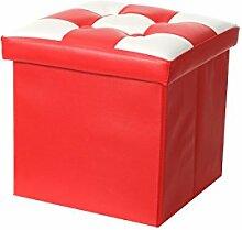 Aufbewahrung Hocker PVC Leder Multifunktions Aufbewahrungsbox Sitz Home Kleinteile oraganizer ro