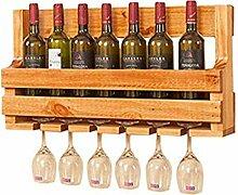 Aufbewahrung von Weinregalen aus Holz Weinhalter