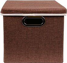 Aufbewahrungs Box Faltbox mit Deckel aus Stoff mit