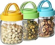 Aufbewahrungsbehälter mit Deckel Glasflasche 3
