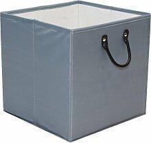 Aufbewahrungsbox 17 Stories Farbe: Grau