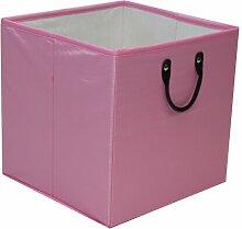 Aufbewahrungsbox 17 Stories Farbe: Rosa