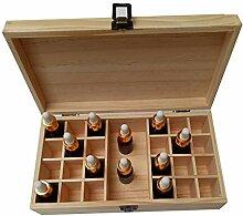 Aufbewahrungsbox aus Holz mit 25 Fächern, für