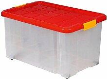 Aufbewahrungsbox aus Plastik, 60x40x30 cm, mit