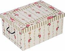 Aufbewahrungsbox aus robuster Pappe mit Deckel mit