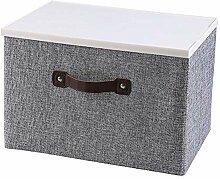 Aufbewahrungsbox aus Stoff mit Deckel Faltbarer