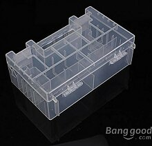 Aufbewahrungsbox für Batterien AA AAA C transparent hart Kunststoff mit Deckel und Fächern
