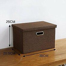 Aufbewahrungsbox Japanisch-Stil Einfache Stoff Aufbewahrungsbox Aufbewahrungsbox Garderobe Garderobe Home Debris Faltbare Aufbewahrungsbox , brown , Medium