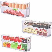 Aufbewahrungsbox küche mit Deckel (3 Stück) -