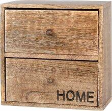Aufbewahrungsbox mit 2 Schubladen aus schwarzem