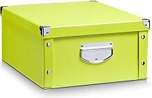 Aufbewahrungsbox Pappe L grün 17817