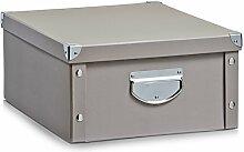 Aufbewahrungsbox Pappe L taupe 17663