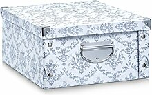 Aufbewahrungsbox Pappe L Vintage taupe 17973