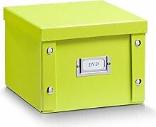 Aufbewahrungsbox Pappe S (DVD-Box) grün 17807
