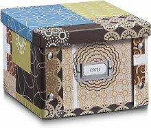 Aufbewahrungsbox Pappe S (DVD-Box) Patchwork 17646