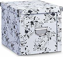 Aufbewahrungsbox Pappe XL floral 17849