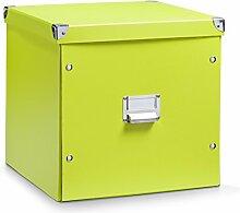 Aufbewahrungsbox Pappe XL grün 17636