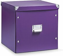 Aufbewahrungsbox Pappe XL lila 17623