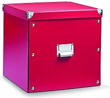 Aufbewahrungsbox Pappe XL rot 17621
