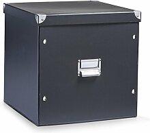 Aufbewahrungsbox Pappe XL schwarz 17635