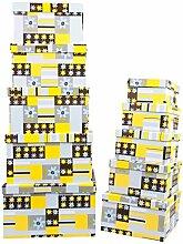 Aufbewahrungsboxen / Schachteln Design Blumen im 10er Set mit Deckel