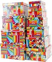 Aufbewahrungsboxen / Schachteln Design Buntstifte im 10er Set mit Deckel
