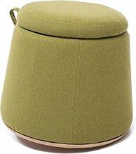 Aufbewahrungshocker Aufbewahrungshocker Dünner Taillenhocker Tragen Sie einen Hocker Ändern Schuhe Stuhl Massivholz kleiner runder Stuhl Sofa Hocker (Farbe wahlweise freigestellt) ( farbe : C )