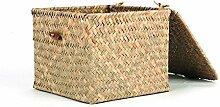 Aufbewahrungskörbe Seegras Weben Fall Container