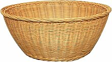 Aufbewahrungskorb Rattan Obstkorb Obst Tablett Getrocknete Obst Platte Bambus Korb Korb Brot Tray Pflanze Material Hand Made Rollsnownow (Farbe : Gelb, größe : A)