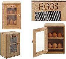 Aufbewahrungsschrank für Eier aus Holz, fasst 12