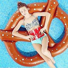 Aufblasbar Breze Pool Float Schwimmende Bett Riesiges Beach Lounge Sommer Hot Party Spiel Spielzeug, braun
