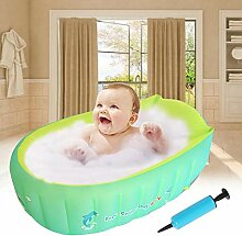 Aufblasbare Babybadewanne für die Dusche,