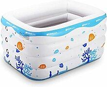 Aufblasbare Badewanne Baby Schwimmbad Baby aufblasbare Schwimmbecken Kinder spielen Pool überdimensioniert Schwimmen Tank Faltende Badewanne, Badfaß