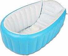 Aufblasbare Badewanne Babybadewanne blau pink ohne