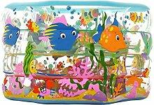 Aufblasbare Badewanne Bunte Kinder Baby Umweltschutz Runde Aufblasbare Pool Dicker Schwimmbad Faltbare Ozean Ball Pool Paddling Pool Wasserspielplatz