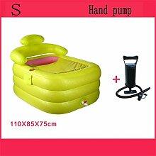 Aufblasbare Badewanne Eindickung Erwachsene Badewanne Faltbare Kind nehmen Sie ein Bad Badewanne Kunststoff Bad Fässer Geschenk Four Seasons Rosa-Grün (farbe : #5)
