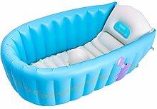 Aufblasbare Badewanne Home-Badewanne faltbar Babybadewanne Neugeborenenwanne Kinderbad Kinderbadewanne faltbares umweltfreundliches PVC-Material kein Geruch ( Color : Blue )