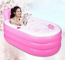 Aufblasbare Badewanne verdicken Erwachsene Badewanne Faltbare Kind baden Badewanne Kunststoff Badewanne Geschenk Four Seasons rosa blau kreativ niedlich ( farbe : #1 )