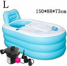 Aufblasbare Badewanne verdicken Erwachsene Badewanne Faltbare Kind baden Badewanne Kunststoff Badewanne Geschenk Four Seasons rosa blau kreativ niedlich ( farbe : #8 )