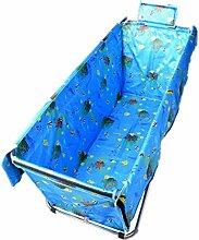 Aufblasbare Badewannenverdickungsisolierungsfaltenbadfaß der erwachsenen faltenden Badeeimerplane ( Color : Blue )