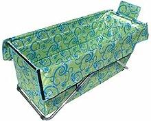 Aufblasbare Badewannenverdickungsisolierungsfaltenbadfaß der erwachsenen faltenden Badeeimerplane ( Color : Green )