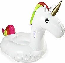 Aufblasbare Einhorn Luftmatratze Unicorn XL Badeinsel Matratze 200 x 160 cm